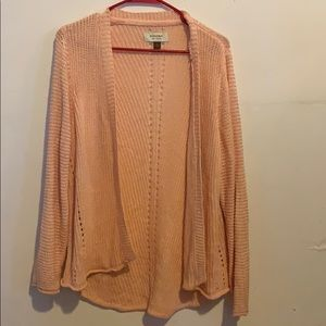 Sonoma womens size xl pink open front sweater